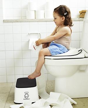 toilettrainer1 - BABYBJORN - nakładka na deskę sedesową biały/czarny