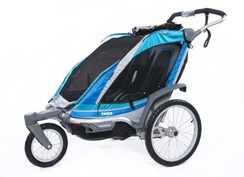 THULE Chariot Chinook 2, podwójny wózek/przyczepka rowerowa - niebieski  2014